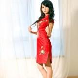 Elegant Blooming Peony Bridal Qipao 2001-28 高貴典雅紅色牡丹刺繡新娘旗袍 2001-28