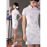 Blue Lotus Shanghai Qipao 2115-72 藍蓮花復古旗袍