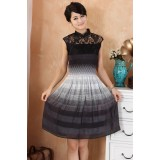 Graceful Chinese Black Lace Dress  3004-99 飄逸中式黑色連衣裙