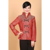 Classic fashionable Red Brocade Jacket 4003-28 經典時尚紅色夾襖上衣