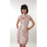 Pink Elegant Brocade Qipao 2053-20 (Size S)