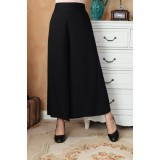 Bell-bottom Black Cotton Pants 7002-99 (XL)