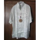 Polyester Short Sleevs Off White Shirt 11009-02 (XXL) 短袖米白功夫衫