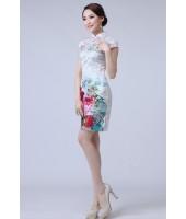 Beautiful Peony Cotton Jacquard Qipao 2082-01靚麗牡丹提花棉旗袍