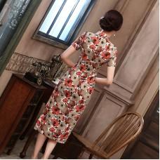 Kapok Linen Midi Qipao 1126-61 木棉亞麻中長旗袍