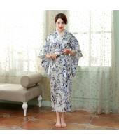 Elegant Light Blue Satin Kimono 50004-72 典雅綢緞淺藍和服