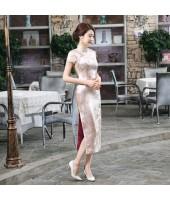 Jiangnan Brocade Golden Cheongsam 1016-48 江南織錦緞金色長旗袍