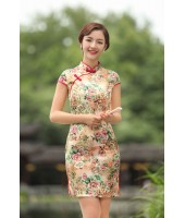 Missuya Jacquard Cotton Yellow Rose Qipao 2097-40 杭州提花棉黄色玫瑰旗袍