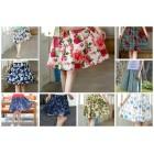 Linen Mini Skirt (assorted) 8100