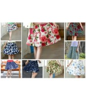 Linen Mini Skirt (assorted) 8100