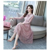 Korean Slim Lady Like Pink Midi Dress 3022-20