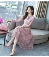 Korean Slim Lady Like Pink Midi Dress 3022-20