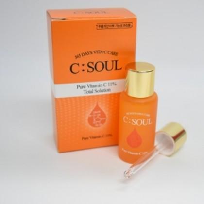 C-Soul Pure Vitamin C 11% Serum Total care Solution 10ml