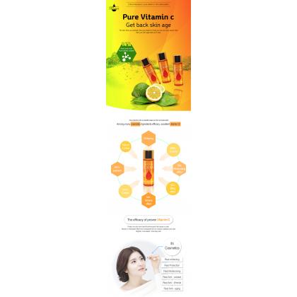 C.Soul Pure Vitamin C 14% Serum Total care Solution 3 x 15ml