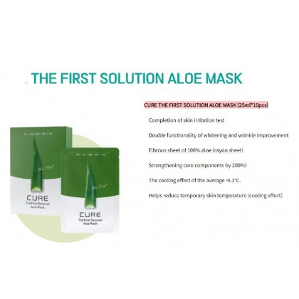 CURE The First Solution Aloe Mask 25ml x 10